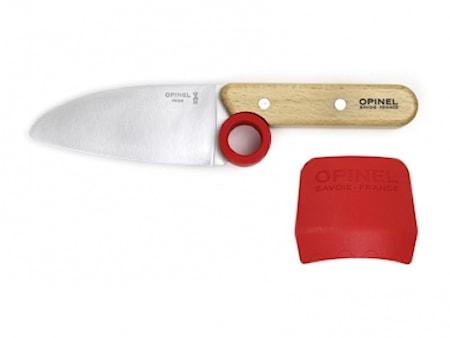 Opinel Le Petit Chef Børnekniv, kniv & fingerbeskyttelse thumbnail