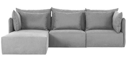 Temahome Dune Soffa med chaise longue - grå