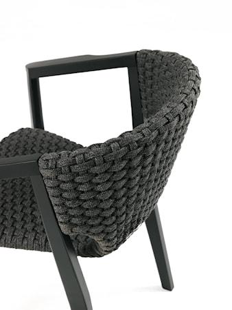 Ethimo Knit high back stol - Svart mahogny