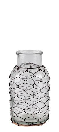 Bilde av KJ Collection Vase Glass/Stål 18,5 cm