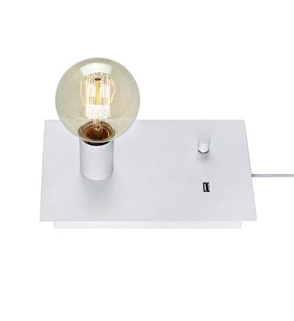 Markslöjd Load Pöytälamppu 1L USB valkoinen