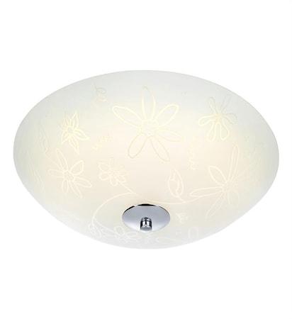 Markslöjd Fleur Plafondi LED 35 cm Valkoinen/Kromi