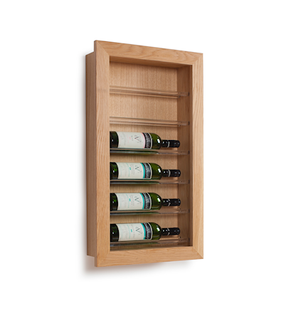 Traditional Wine Racks 6 pullon Viiniteline Display seinälle
