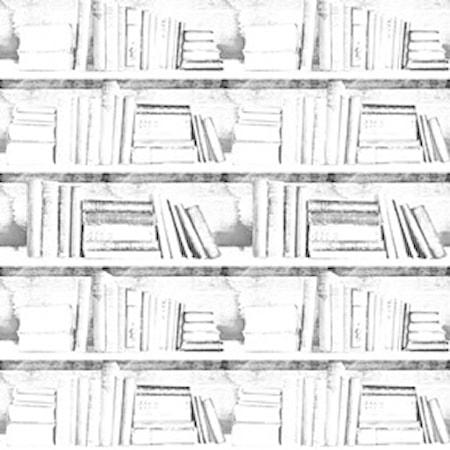 Bookshelf almost white photocopy tapet