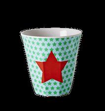 Melaminmugg Stjärna Grön/Turkos