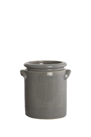 House Doctor Kukkaruukku Pottery 15 cm - Vaaleanharmaa