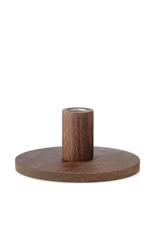 Bilde av Applicata Simplicity Lysestake Mørk Eik 6 cm