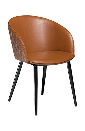 Dan Form Denmark Stol Dual Konstläder - Vintage Ljusbrun