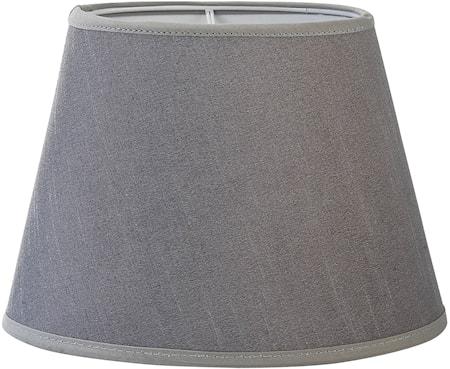 Bilde av PR Home Oval Lampeskjerm Silke Lysgrå 25 cm