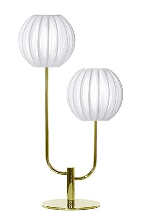 Bilde av Globen Lighting Bordlampe Plastbånd Duo Hvit / Messing