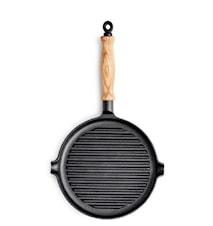 Le Gourmet Grillpanna med trähandtag 25 cm