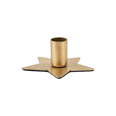House Doctor Ljusstake Star Brass 6 cm