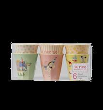 Mugg 6-pack Cirkus Rosa/Gul