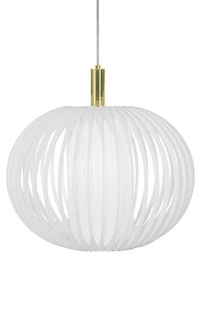 Bilde av Globen Lighting Pendel Plastbånd XL Hvit / Messing