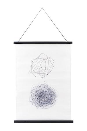 House Doctor Väggdekoration Knot 50x70 cm - Vit/svart