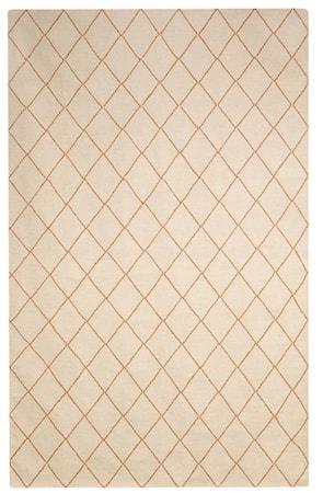 Diamond Dhurry Matta Ull Off white/Orange 184x280 cm