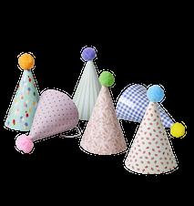 Pappershat Pompom 6-pack