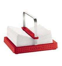 Bistro Servetthållare 20x20 cm Röd
