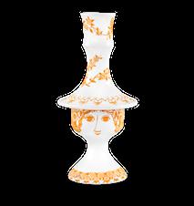 Ljusstake, Rosalinde, orange, 17 cm
