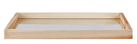 KJ Collection Bakke - Træ - Spejl - Natur - H 3,0cm - L 40,0cm - B 30,0cm - Stk. thumbnail