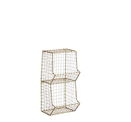 Hylla wire 19,5x18x40 cm Mässing