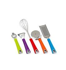 Köksredskap 5 delar osorterade färger