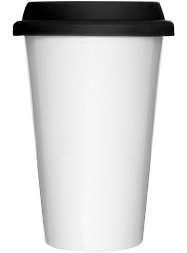 Termomugg med silikonlock Vit