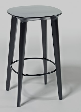 minus tio Audrey björk barstol - H65, svartbetsad björk
