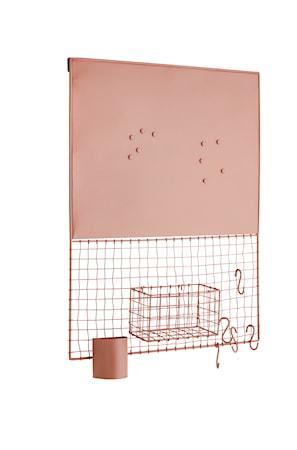 Madam Stoltz Ilmoitustaulu 50x11 cm - Dusty rose