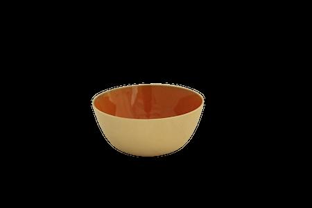 Gusums Messing Mässingskål emaljerad orange 7 cm