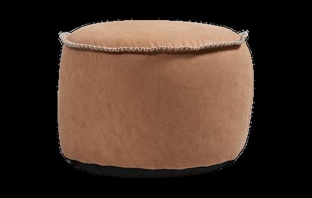 SACKit RETROit Dunes Drum Läder Sittpuff - Camel