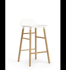 Form Barstol Vit/Ek 65 cm