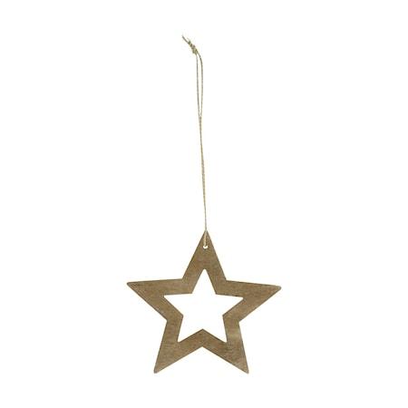 House Doctor Ornament Stars Ø 8 cm - Trä