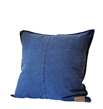 Kuddfodral m knappar, 50x50 cm, blå