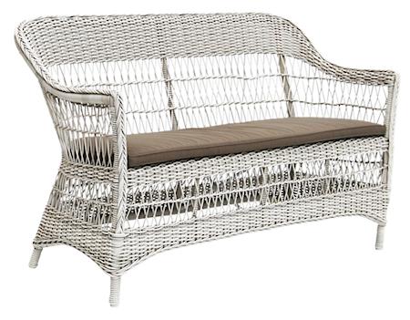 Sika Design Charlot 2-sits soffa - Vintage white, inkl grå dyna