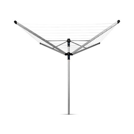 Brabantia Torkvinda LOM Advance 50m + plasttub för betong 50mm + skyddsöverdrag + klädnypepåse 50 M Metallic Grå