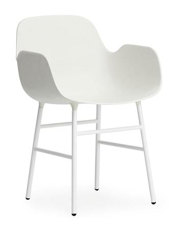 Normann Copenhagen Form karmstol stål Vit