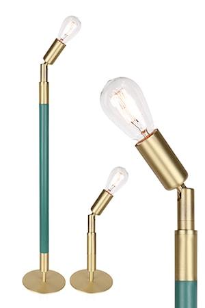Bilde av Globen Lighting Bordlampe Mr Hyde Grønn / Børstet Messing.