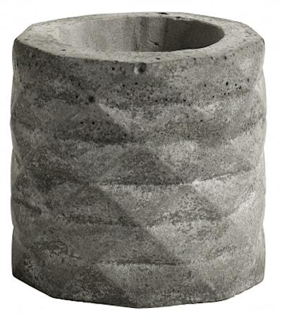 Värmeljusstake Cement Grå
