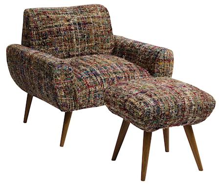 Bilde av Nordal Purple knit lenestol