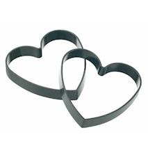 Äggform Hjärta 2-pack Non-Stick