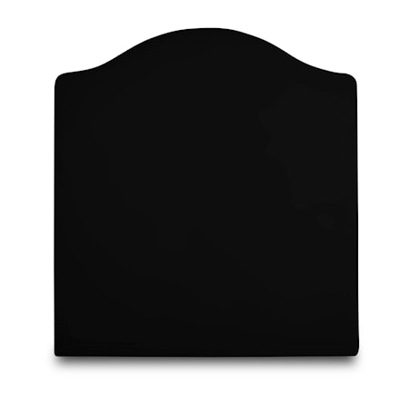 Mille Notti Carlita canvas sänggavel ? Svart 90x140