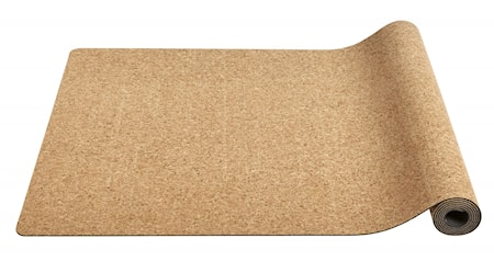 YOGA mat, cork w. black rubber