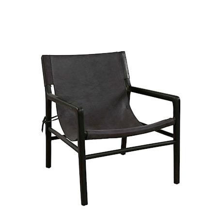 Artwood Soller Fåtölj Black leather