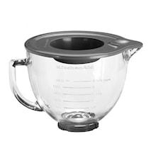 Artisan glas-skål till köksmaskin klar 4,8 liter