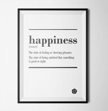 Bilde av Konstgaraget Happiness quote poster