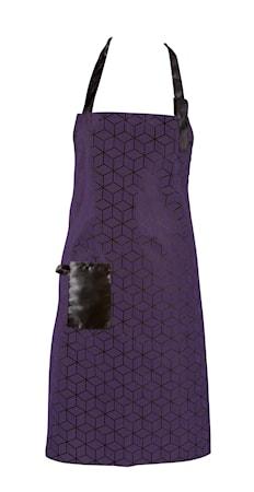 Förkläde Polyester/Bomull Lila 80x64 cm