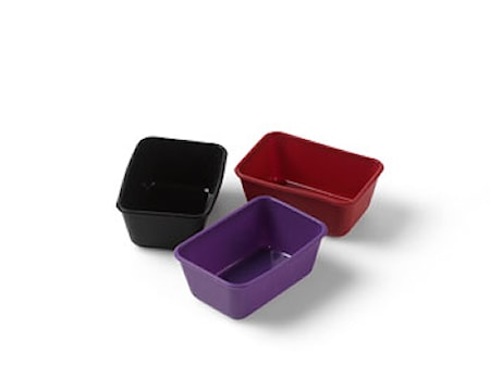 Leivontamuotti Minileipä Musta, Lila & Punainen 3-pack