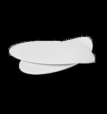 GC Bricka, 2 st., vit, oval, melamin