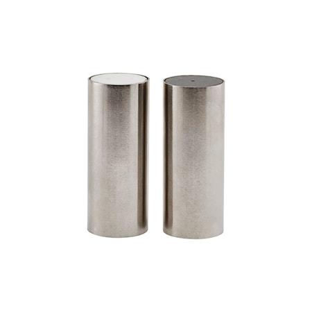 Salt och peppar Tall Borstat silverfärg